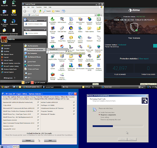 Screenshot Windows XP Professional SP3 x86 - Integral Edition 2019.8.17 (ISO)
