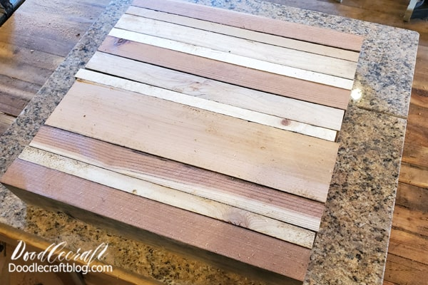 Get the wood clamps and glue ready to rock. Also work on a surface that will not get glued to the project. We used a marble slab.