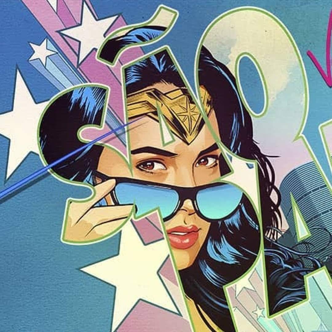 Wonder Woman 1984 CCXP Banner : ガル・ガドットの戦うヒロインのダイアナが帰ってくる「ワンダーウーマン 1984」が、ブラジルのコミコン CCXP 参戦に向けて、80年代テイストのポップなバナー・ポスターをリリース ! !