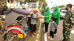 Persit KCK Cabang XVI Kodim 0701/Banyumas Adakan Kegiatan Bakti Sosial Dibulan Suci Ramadhan 1442 Hijriah