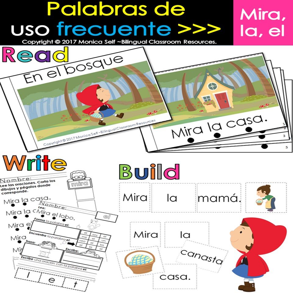 """Spanish High Frequency Words """"mira"""",""""la"""" and """"el"""""""