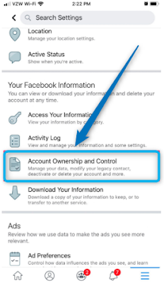 Delete Your Facebook Account on an iPhone