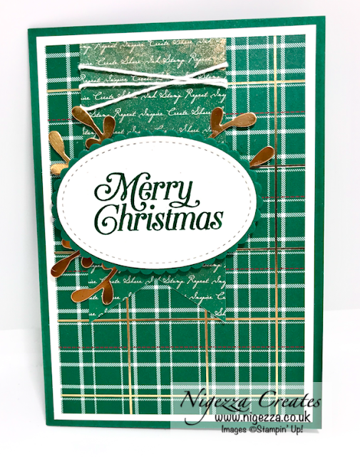 Wrapped in Plaid Christmas card Stampin Up