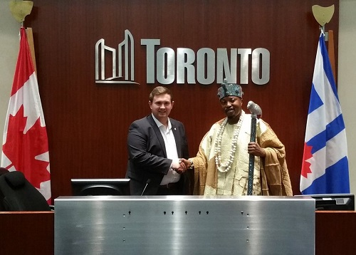 Osun Monarch, Oluwo Hosted In The Famous Toronto City Hall By Canadian Parliamentarian