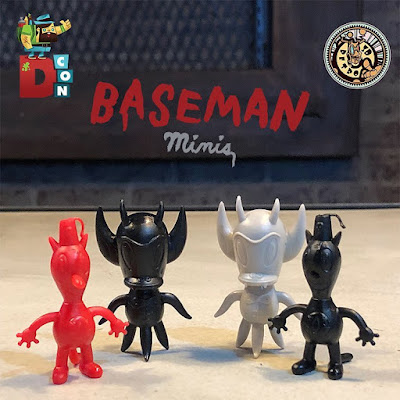 Designer Con 2017 Exclusive Baseman Minis Keshi Figures by Gary Baseman x 3DRetro - Toby & Hot Cha Cha Cha