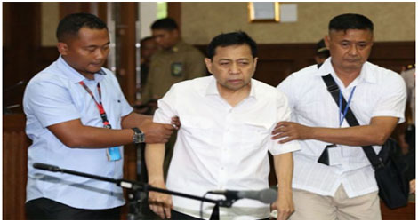 "Sidang Perdana, Setya Novanto ""Mogok"" Bicara Di Hadapan Hakim"
