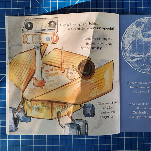 Mars rover curiosity childrens book review
