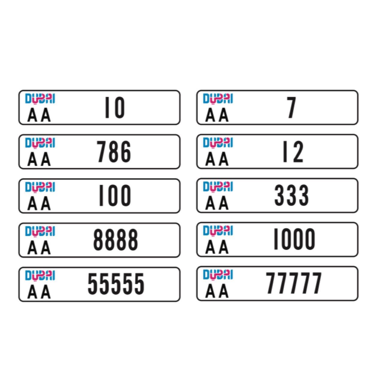 Rta Launched New Generation Of Vehicle Number Plates