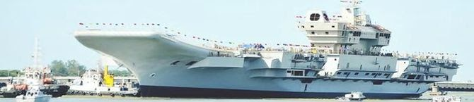 Chief of Defence Staff Reviews Progress of Work On Indigenous Aircraft Carrier At Cochin Shipyard