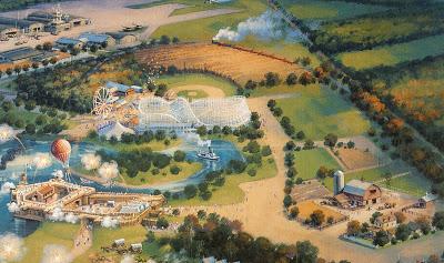 Disney's America Never Built Theme Park Concept Art