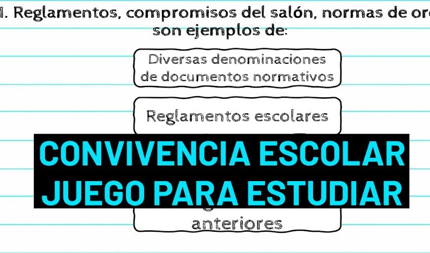 Convivencia Escolar presentación para ESTUDIAR