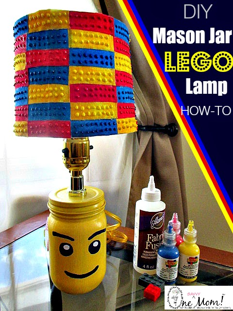 How to make a LEGO Minifigure Mason Jar Lamp LEGO Brick Lampshade