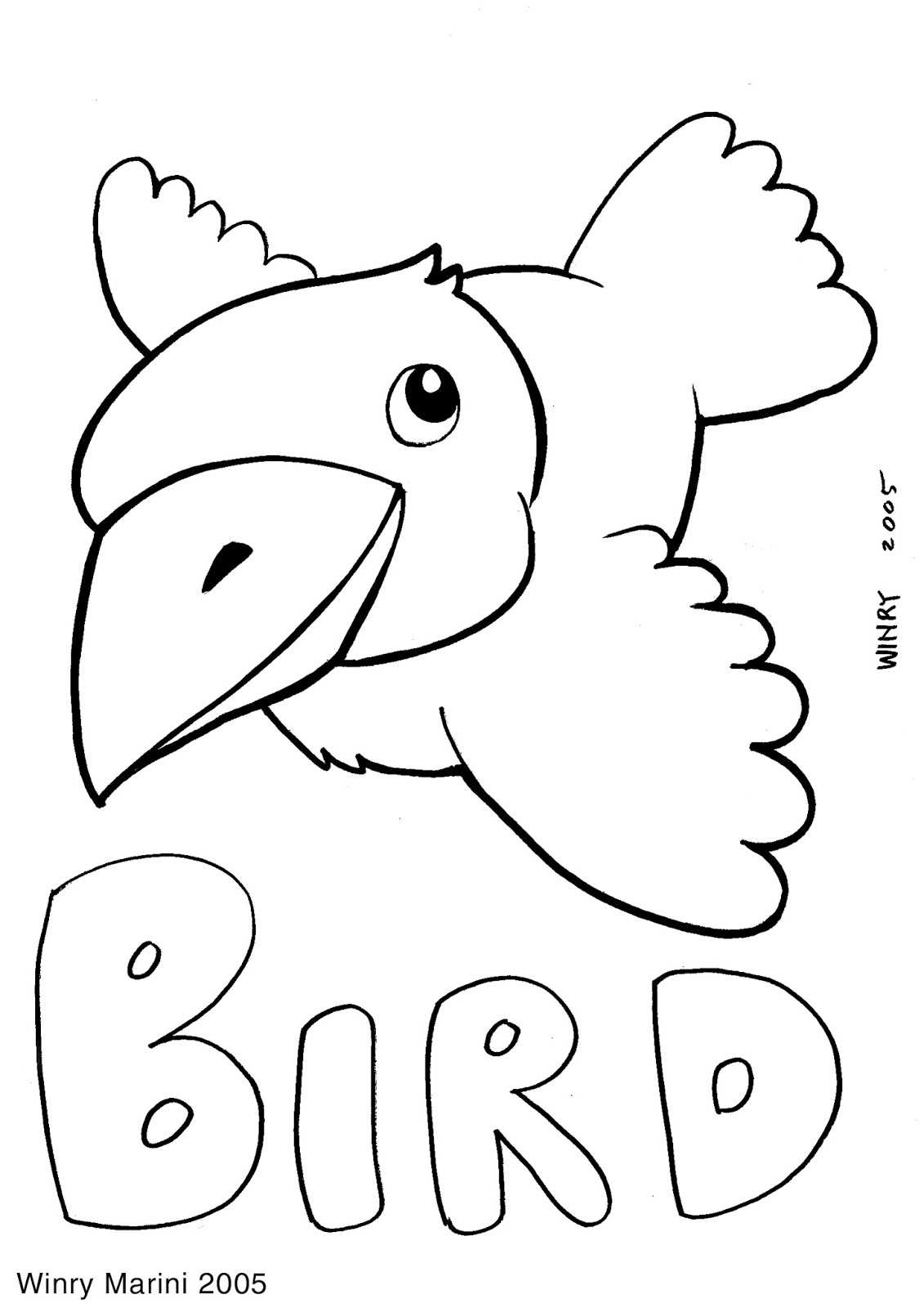 Bird Coloring Page by Winry Marini 2005