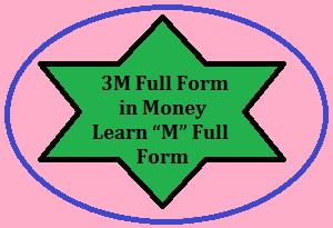 3M Full Form in Money