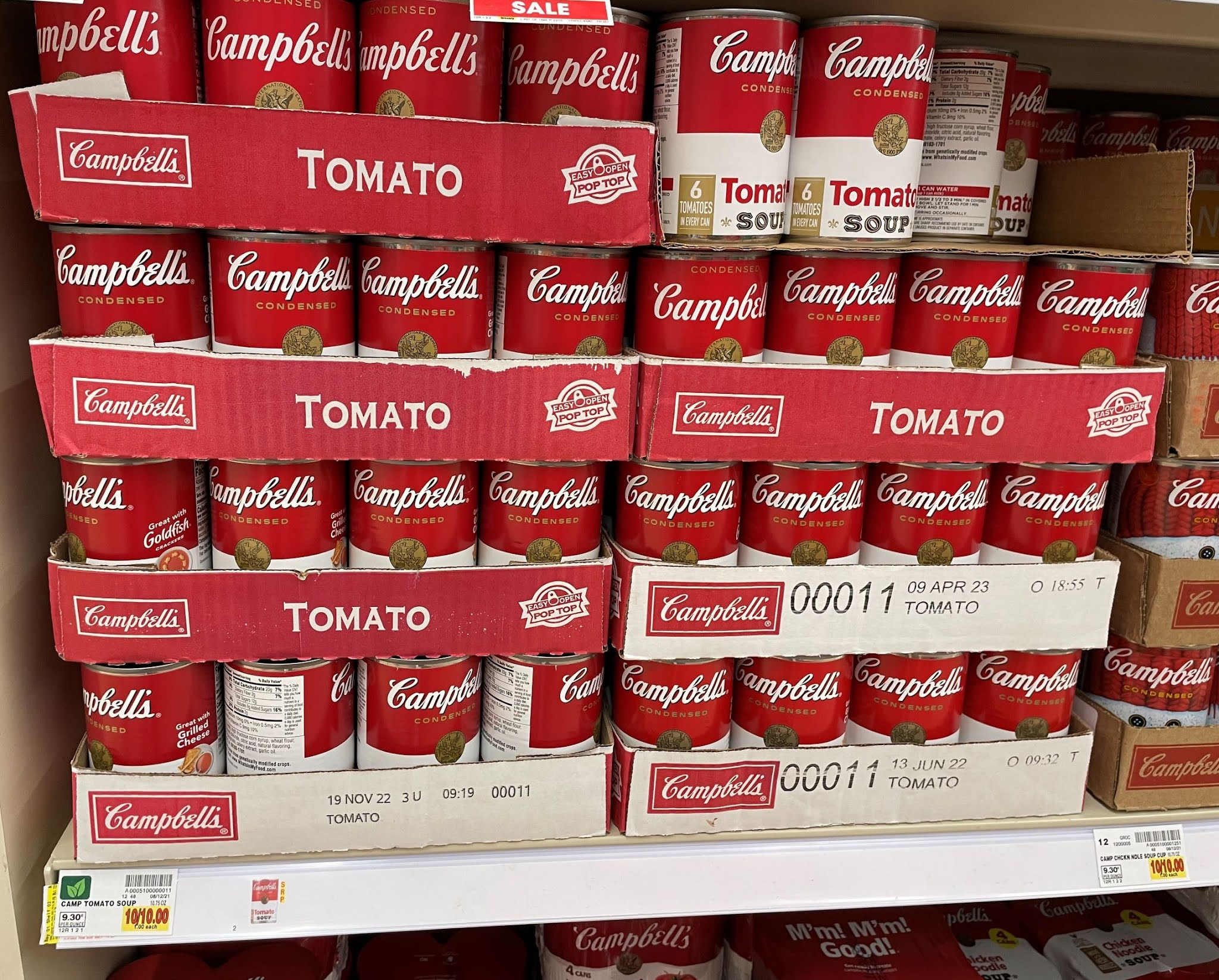 Cases of Campbell's Condensed Tomato Soup