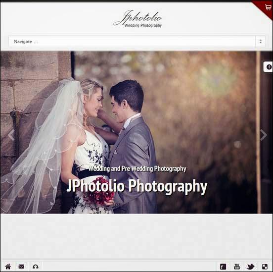 JPhotolio Responsive Wedding photography WP Theme