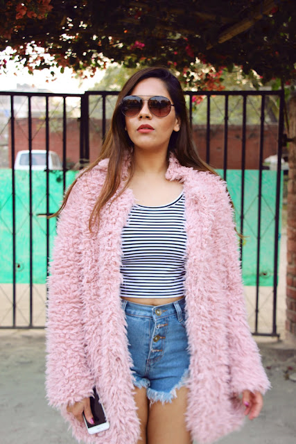 fashion, crop top, how to style denim shorts, cheap denim shorts online, how to style crop top, cage shoes, cheap cage shoes, fur coat, pastel fur coat, sammydress, delhi blogger, indian spring, indian blogger, delhi fahsion blogger, beauty , fashion,beauty and fashion,beauty blog, fashion blog , indian beauty blog,indian fashion blog, beauty and fashion blog, indian beauty and fashion blog, indian bloggers, indian beauty bloggers, indian fashion bloggers,indian bloggers online, top 10 indian bloggers, top indian bloggers,top 10 fashion bloggers, indian bloggers on blogspot,home remedies, how to