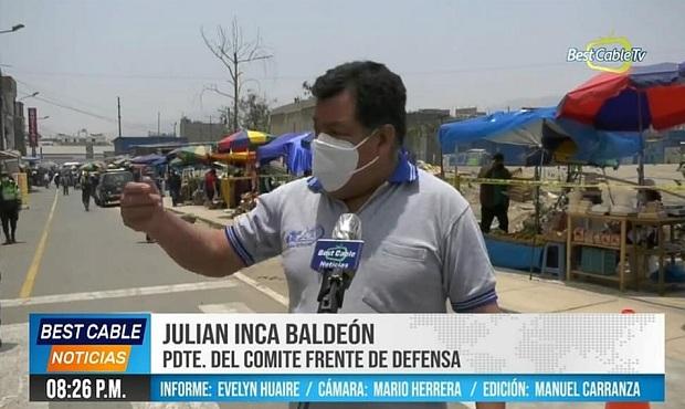 SJL: Vecinos de Mariscal Cáceres piden que municipio retire a vendedores informales