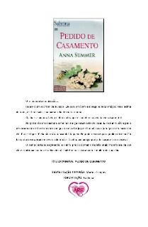 PEDIDO DE CASAMENTO - Anna Summer