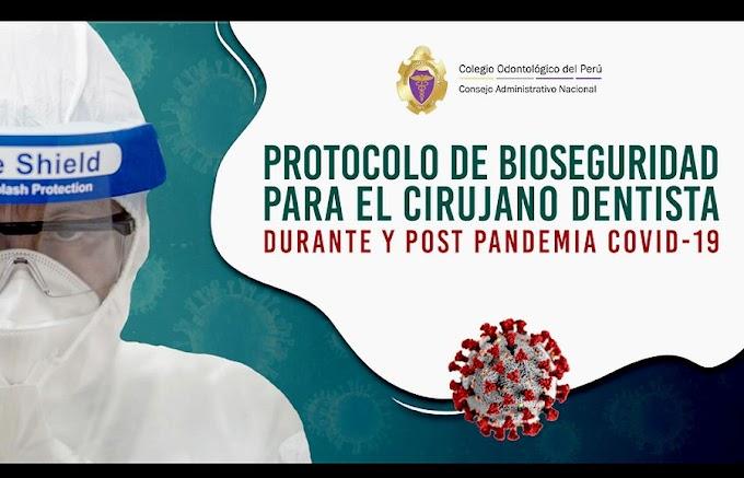 PDF: Protocolo de Bioseguridad para el Cirujano Dentista 2020 - COVID19