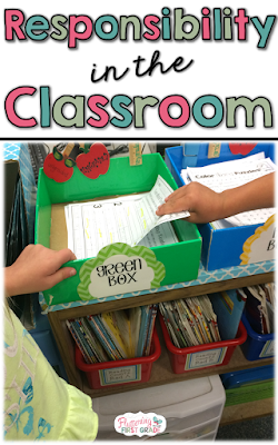 Creating a classroom culture with responsible students. Ideas for building the character trait responsibility into daily classroom tasks.