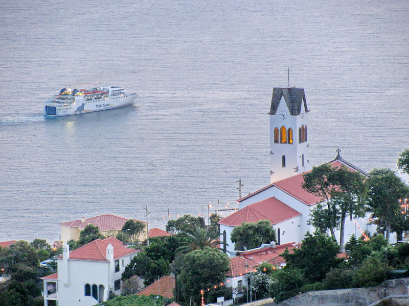 a church and the ship