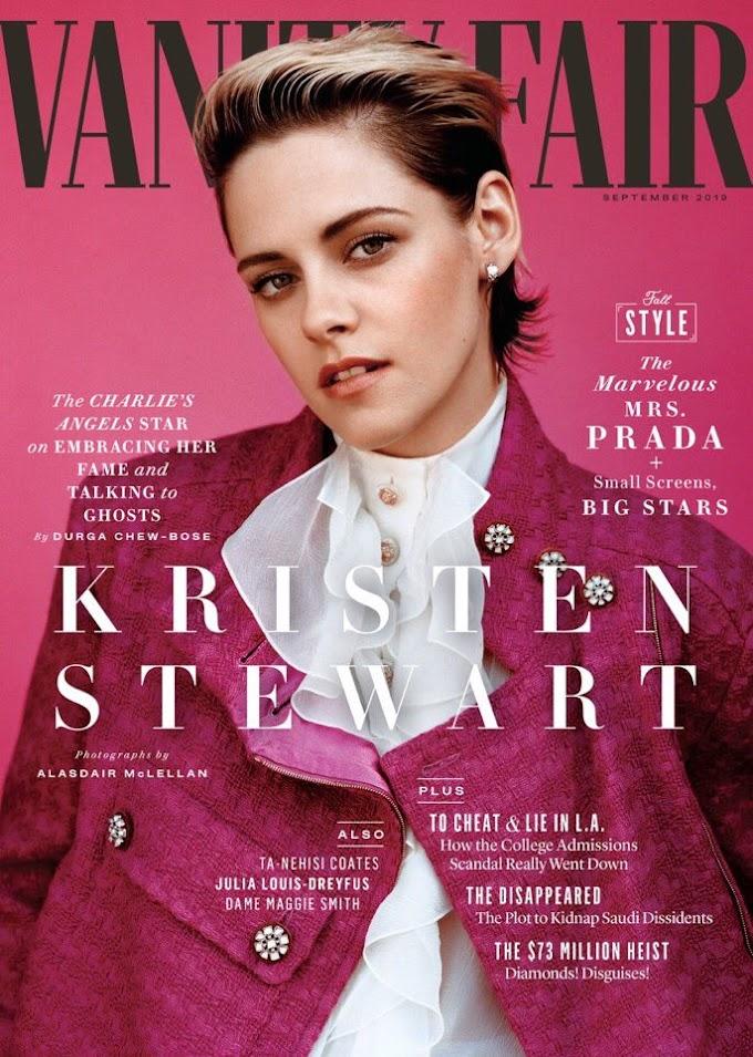 Kristen Stewart Poses For Vanity Fair's September 2019 Issue!