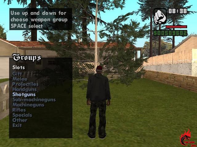 Guns Menu Mod For GTA San Andreas Pc