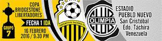 Deportivo Táchira vs Olimpia, Copa Libertadores, Grupo 7