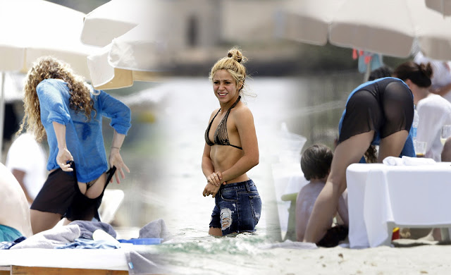 Shakira in a Bikini in Ibiza