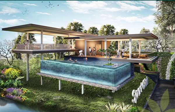 Fasilitas Club house yang di lengkapi dengan kolam renamg dan sport center