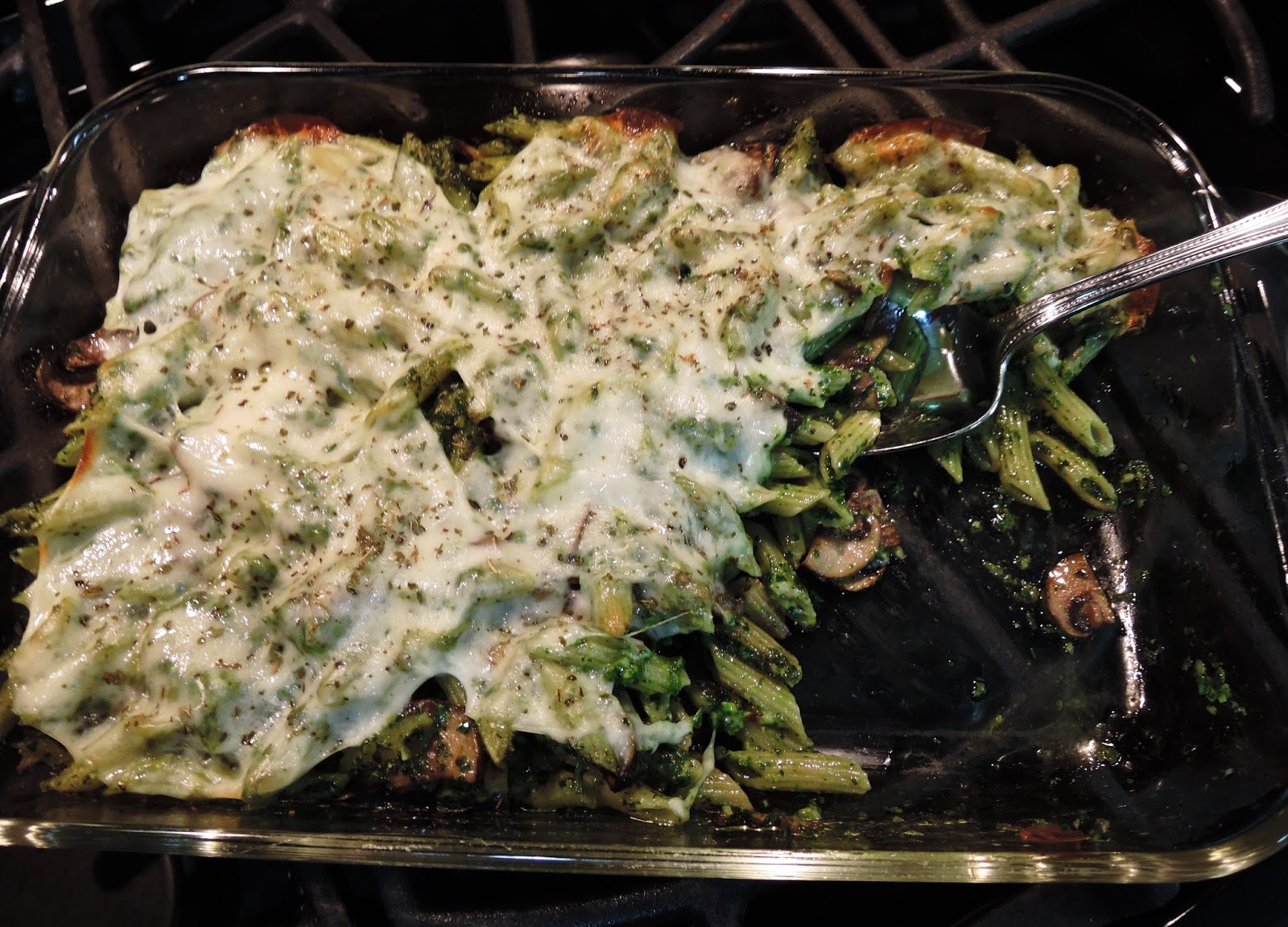 how to cook penne pasta with pesto sauce