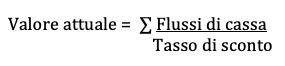 formula calcolo valore attuale