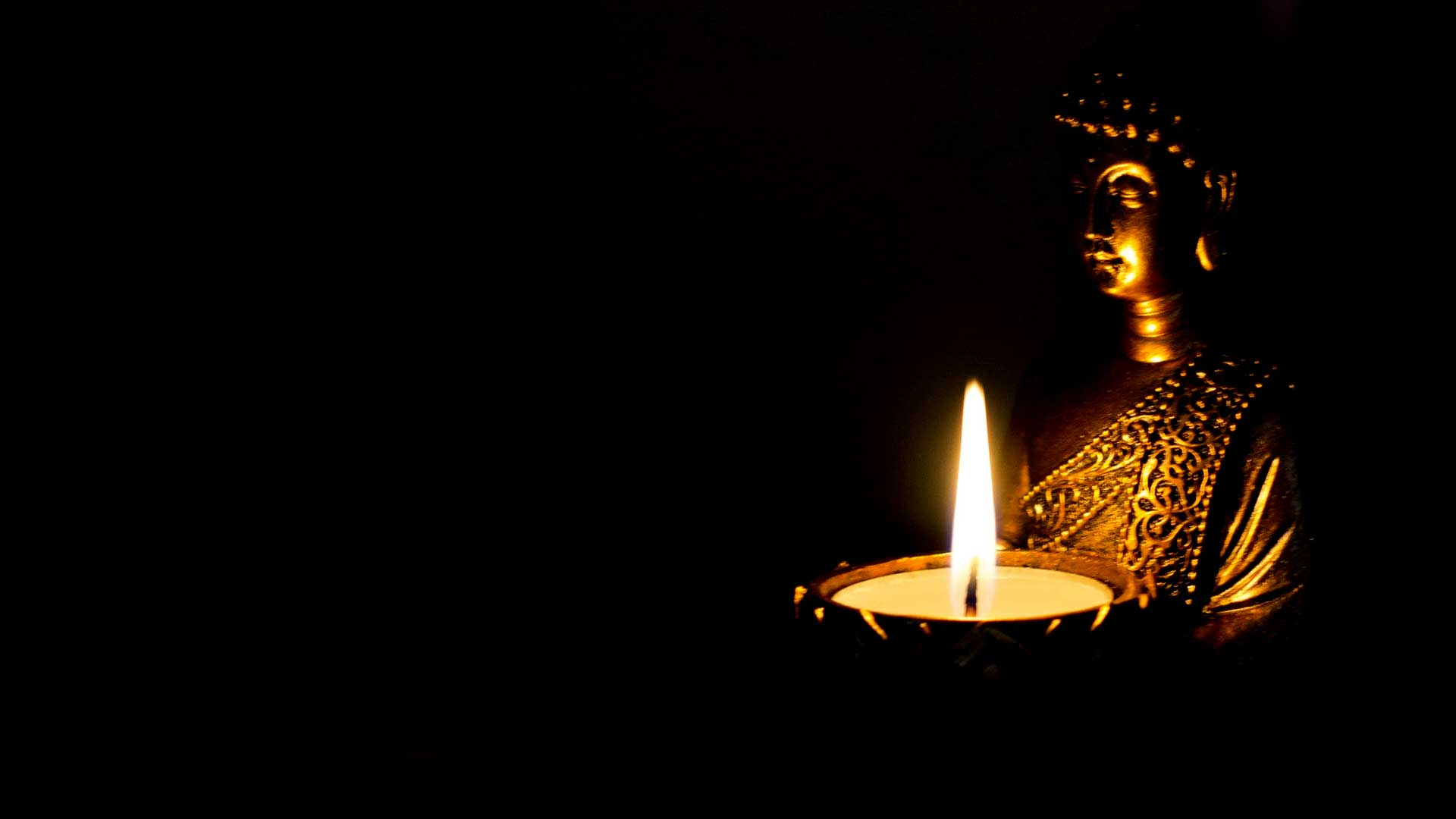 budha in the dark