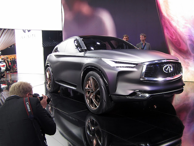 This Q50 Concept From Nissan S Premium Brand Infiniti Was World Debuted At Beijing But For Paris It Launching A New 2 0 Turbocharged Engine With An