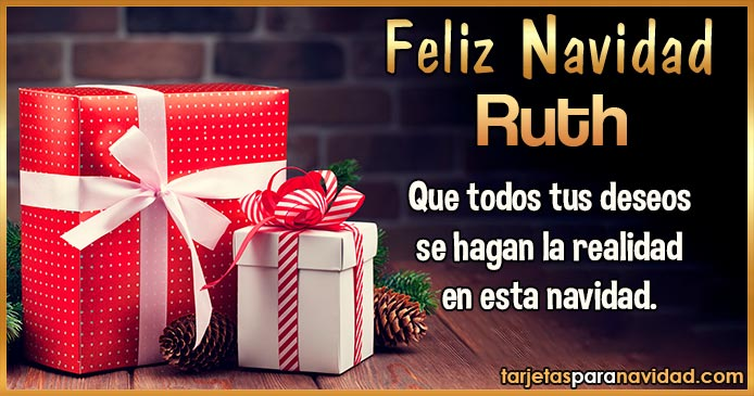 Feliz Navidad Ruth