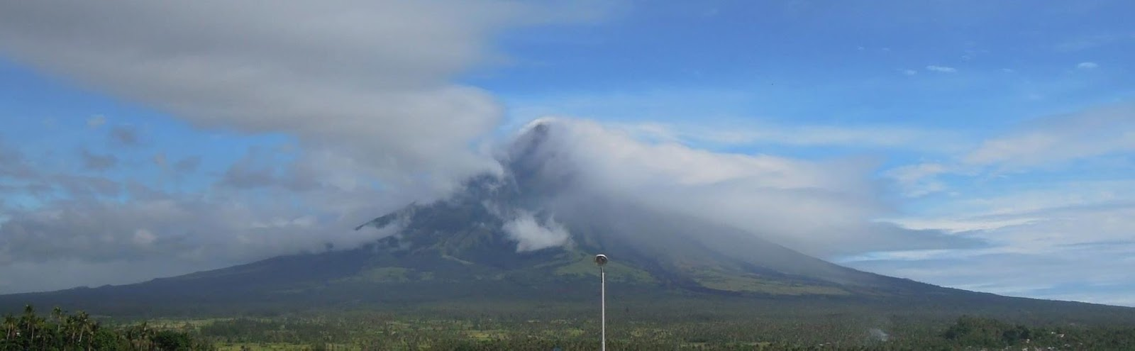 Mayon Volcano as seen from Lignon Hill in Albay