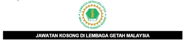 Jawatan Kosong Lembaga Getah Malaysia 2021