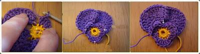 Tığ işi Çiçek Motif Yapımı 3
