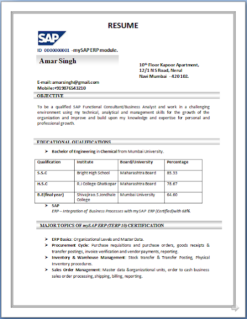 download sap basis resume