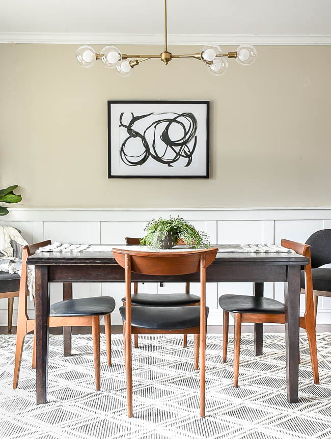 clean and modern dining room progress