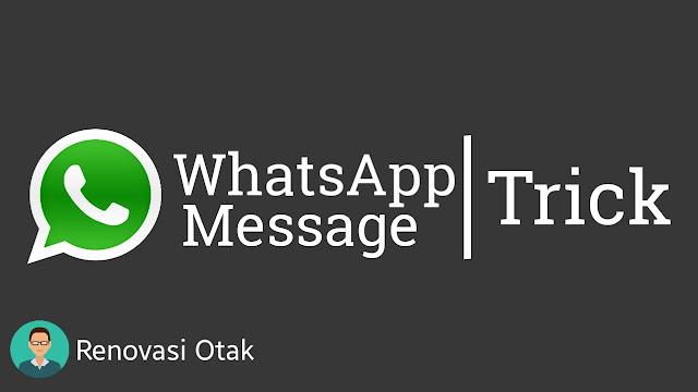 Cara Mengirim Pesan WhatsApp Tanpa Save Nomor