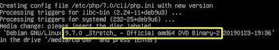 Input DVD Debian 9 label 2