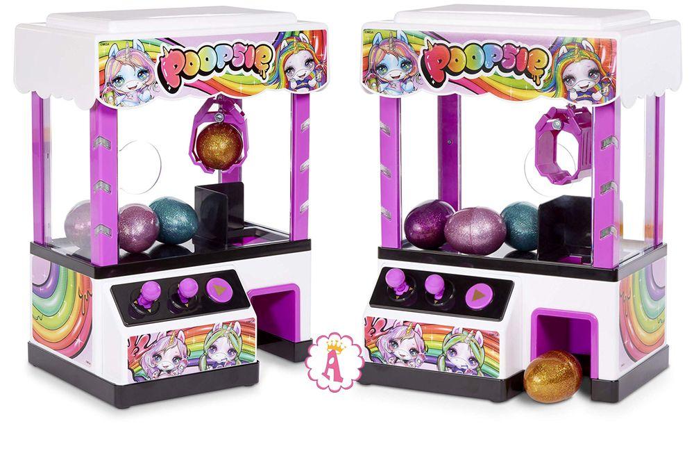 Игрушка хватайка для детей новинка 2019 Poopsie Claw Machine со слаймом