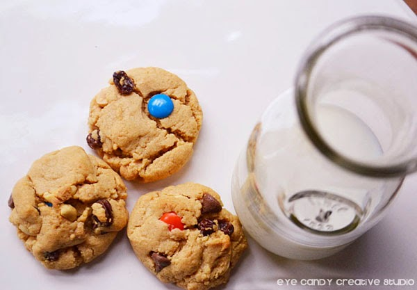 3 cookies, milk & cookies, monster mash cookie recipe