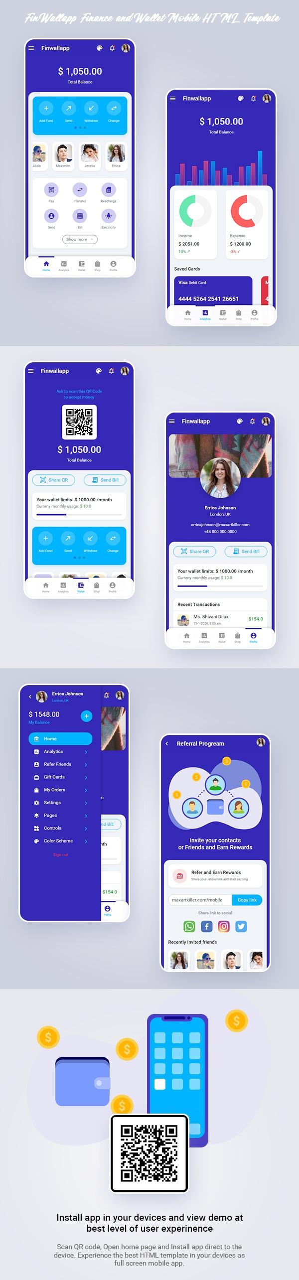 Finwallapp Mobile HTML template