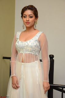 Anu Emmanuel in a Transparent White Choli Cream Ghagra Stunning Pics 110.JPG