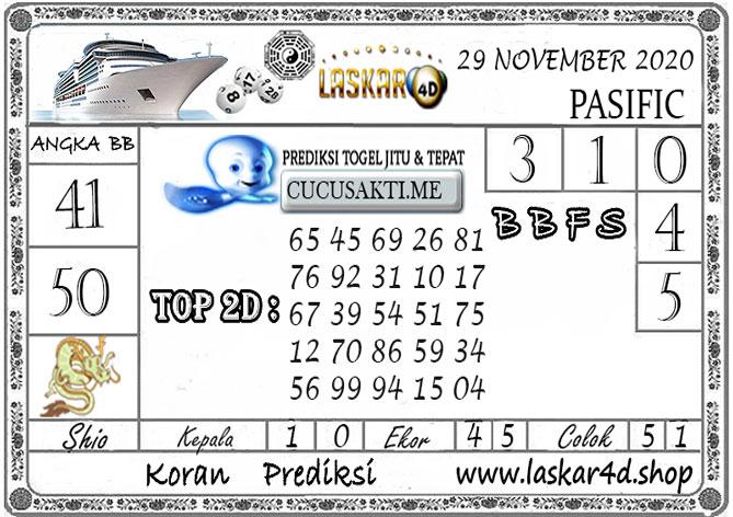 Prediksi Togel PASIFIC LASKAR4D 29 NOVEMBER 2020