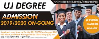 OSCOED-UI Degree Post-UTME / DE Admission Form 2019/2020