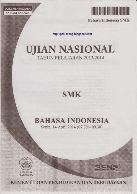 Berbagi Dan Belajar Naskah Soal Un Bahasa Indonesia Smk 2014 Paket 1